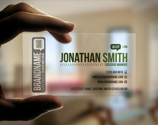 23 Cool Examples of Transparent Business Cards + Giveaway