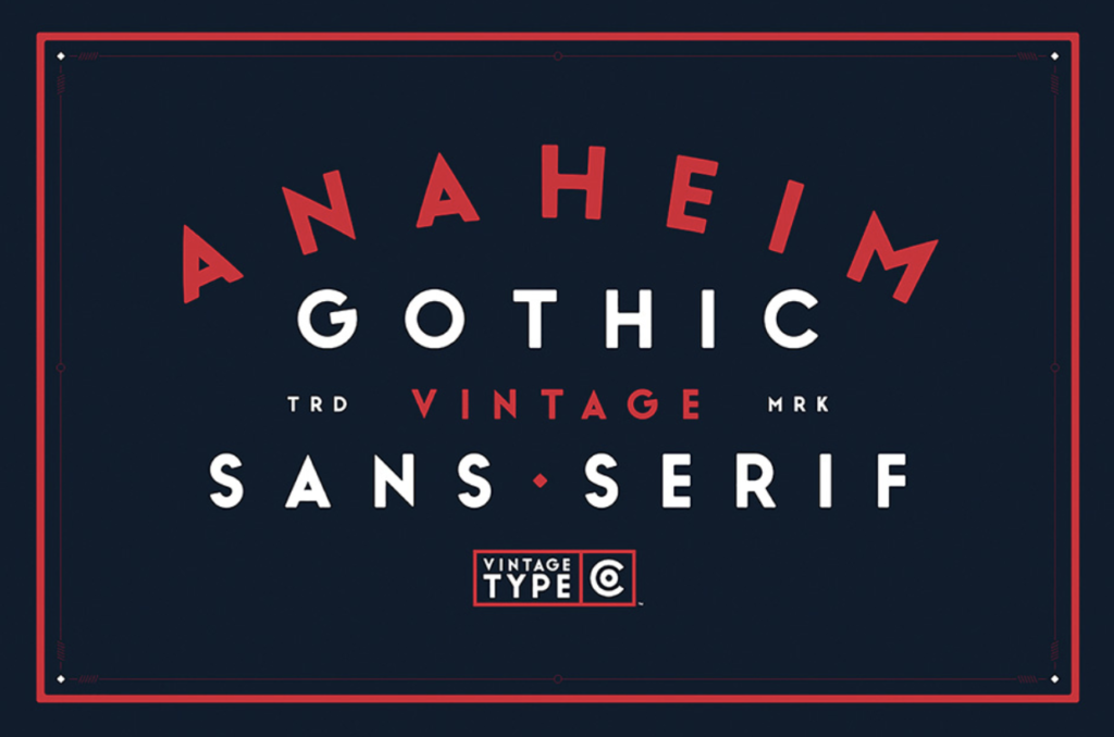 Best fonts for logos - Anaheim