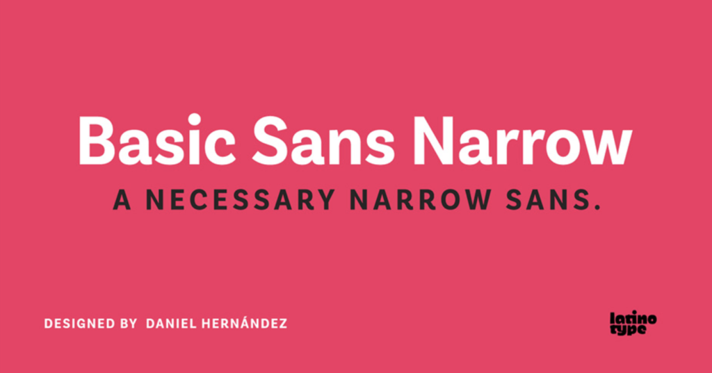 Best fonts for logos - Basic Sans Narros