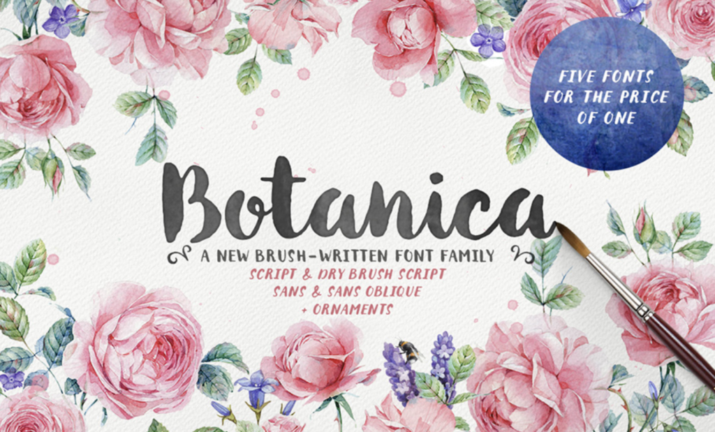 Best fonts for logos - Botanica