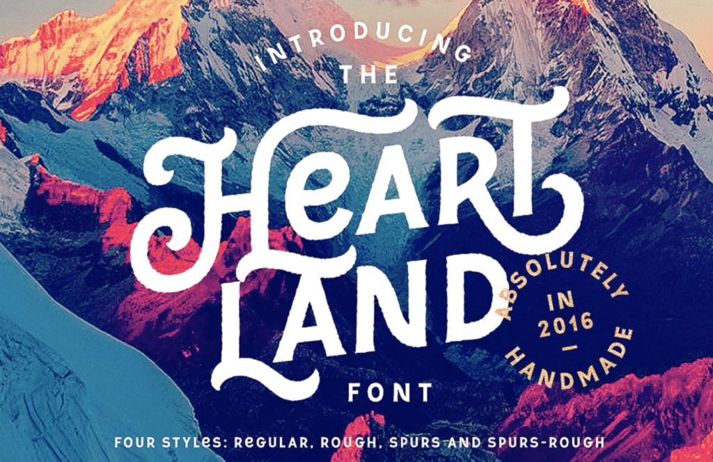 Best fonts for logos - Heart Land