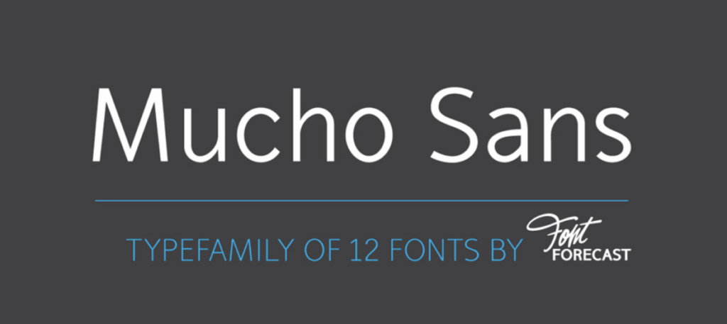 Best fonts for logos - Mucho Sans