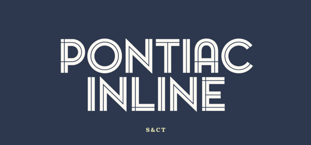 Best fonts for logos - Pontiac Inline
