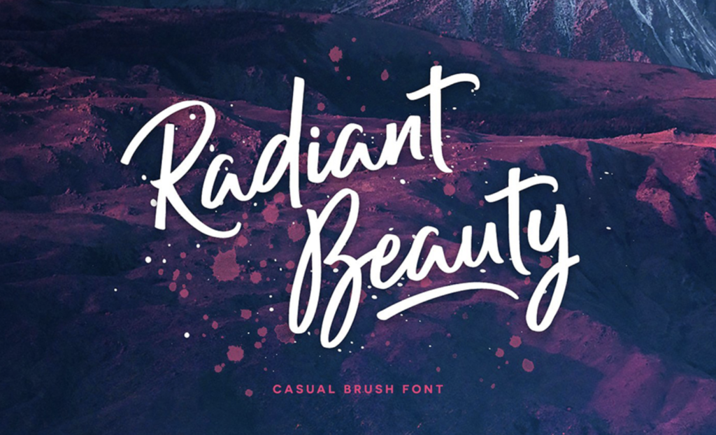 Best fonts for logos - Radiant Beauty