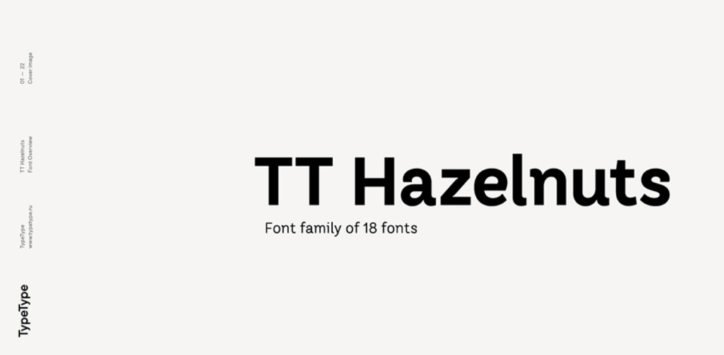 Best fonts for logos - TT Hazelnut