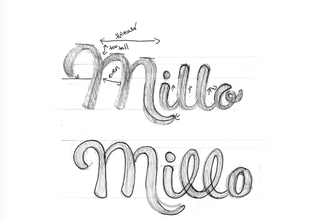 millo logo drawn