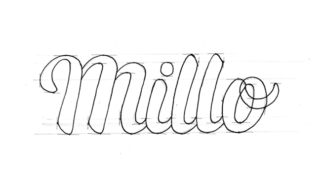 millo logo final outline pencil