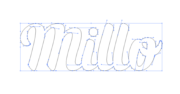 new millo logo vector points