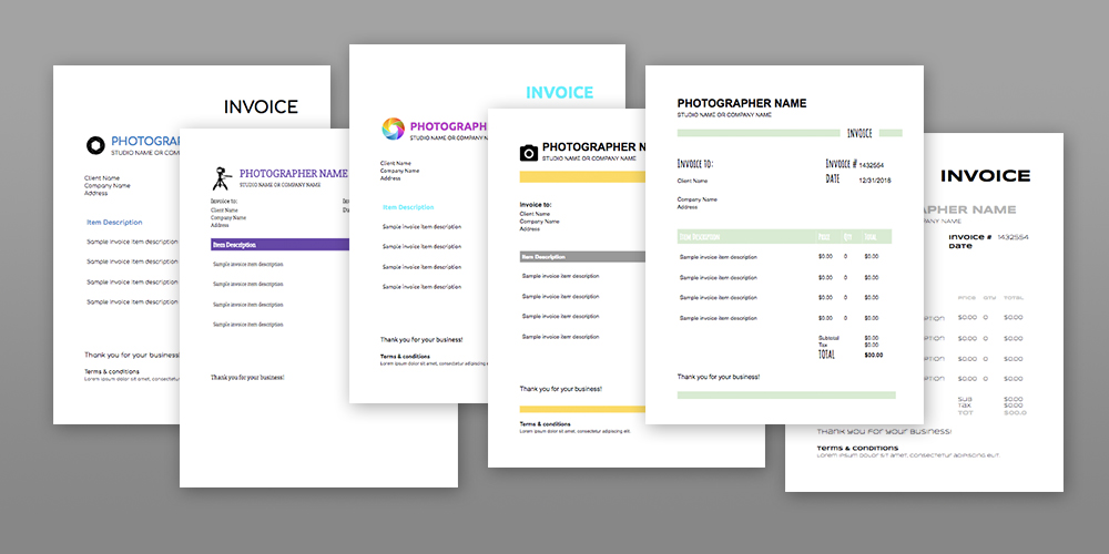 6 Photography Invoice Templates Free Download