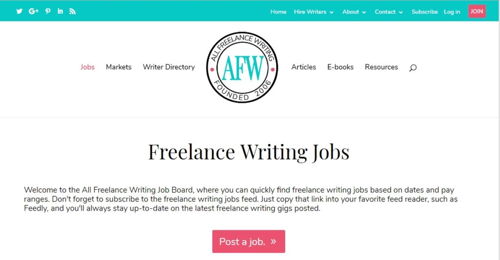 Freelance Job Sites - All Freelance Writing