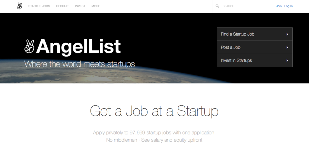 Freelance Job Sites - AngelList