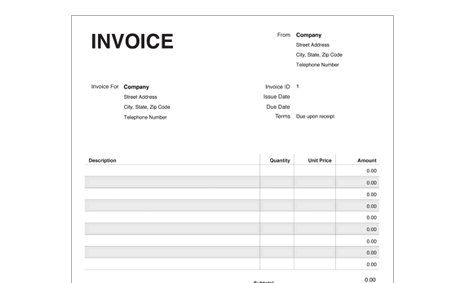 Freelance Invoice Template PDF Harvest