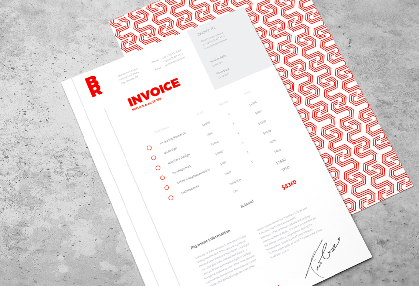 What to include on a freelance invoice - Orange Freelance Invoice