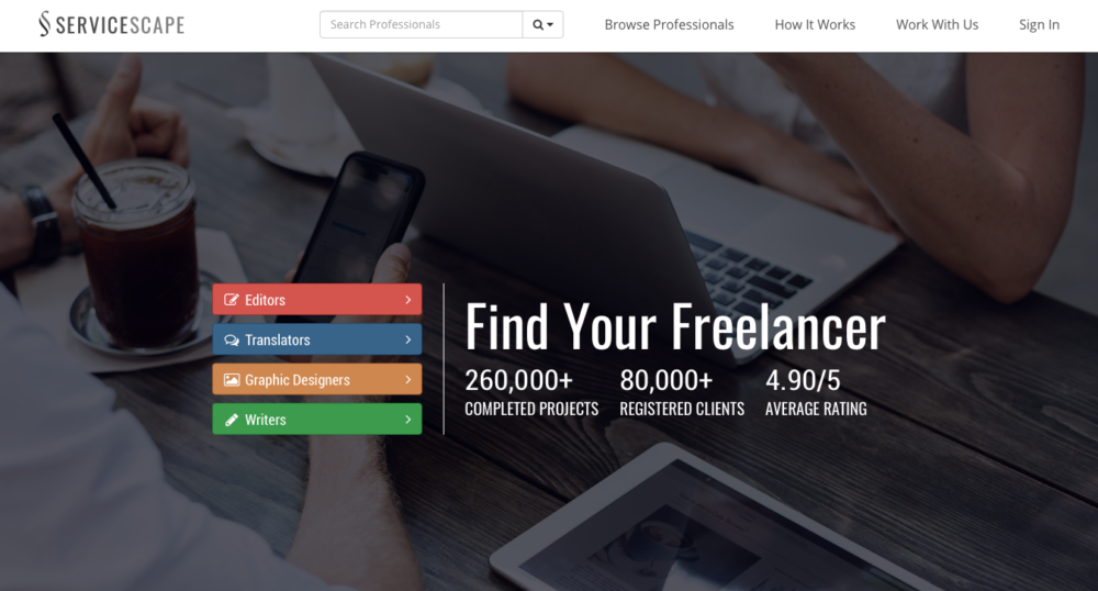 Freelance Job Sites - ServiceScape