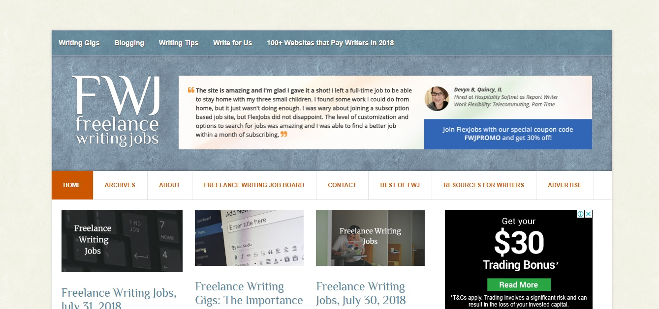 Freelance Job Sites - Freelance Writing Gigs