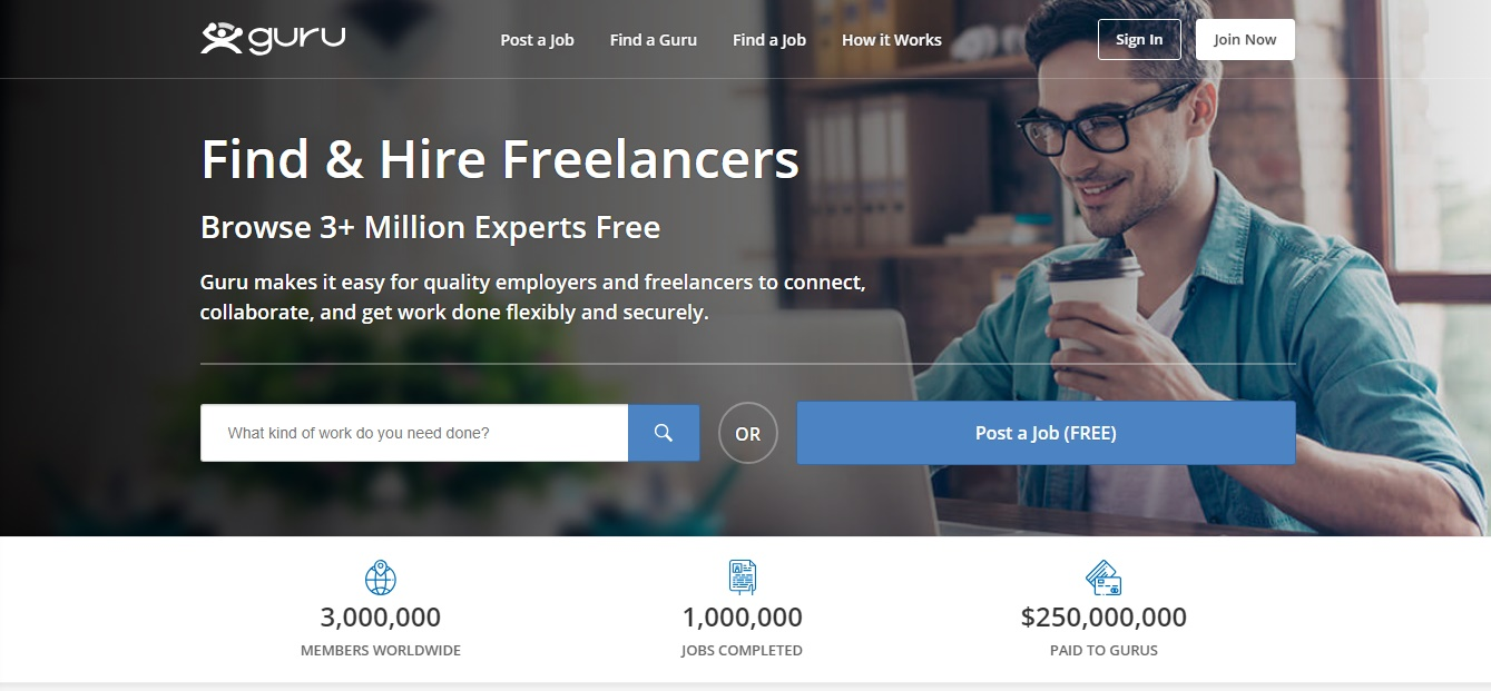 Freelance Job Sites - GURU
