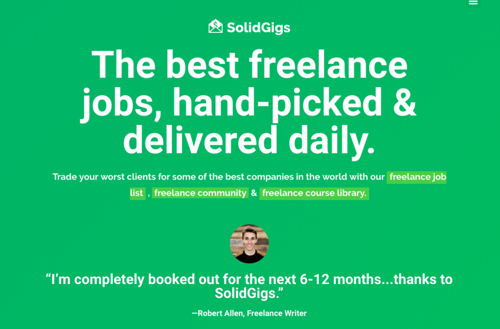 Find freelance writing jobs for beginners on SolidGigs