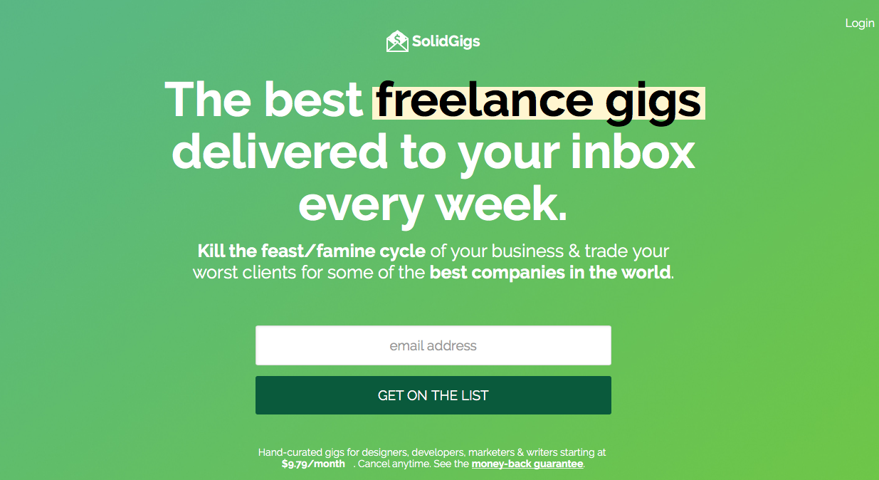 Freelance Job Sites - SolidGigs