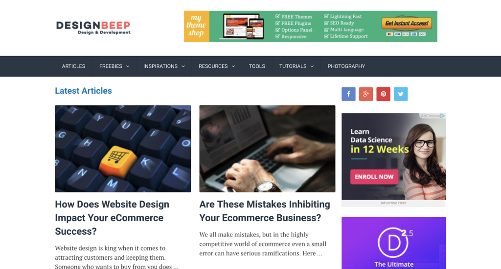 Graphic design blogs - designbeep