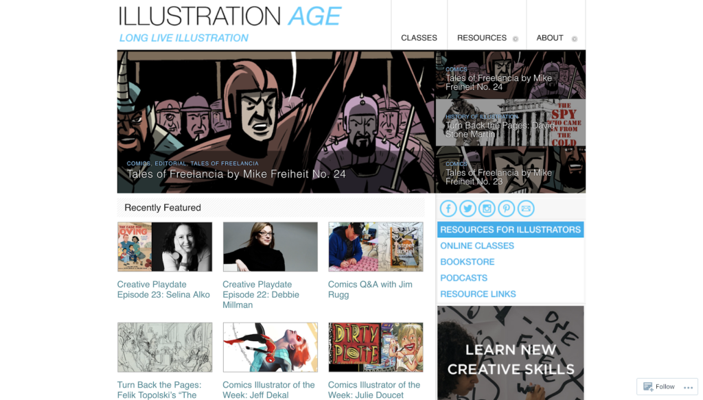 Graphic design blogs - illustration age