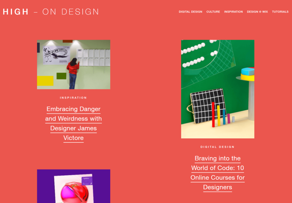 Wix - High On Design Blog