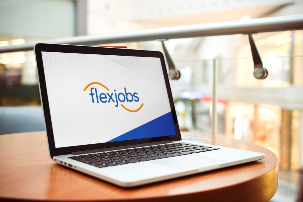 FlexJobs on Freelancer Laptop