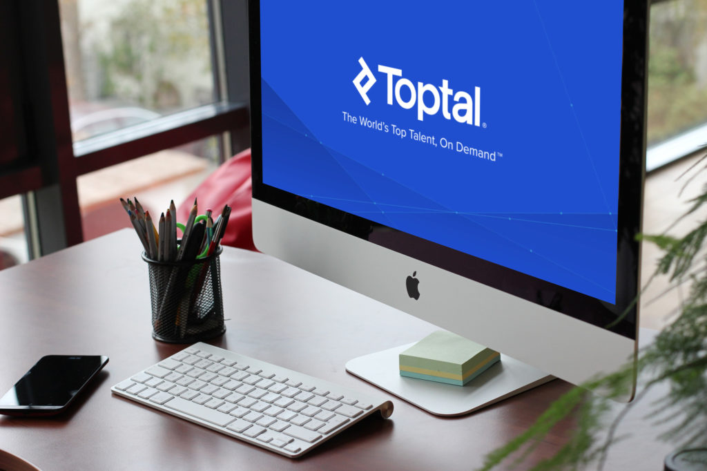 TopTal Freelancing Job Website Logo On Desktop Screen