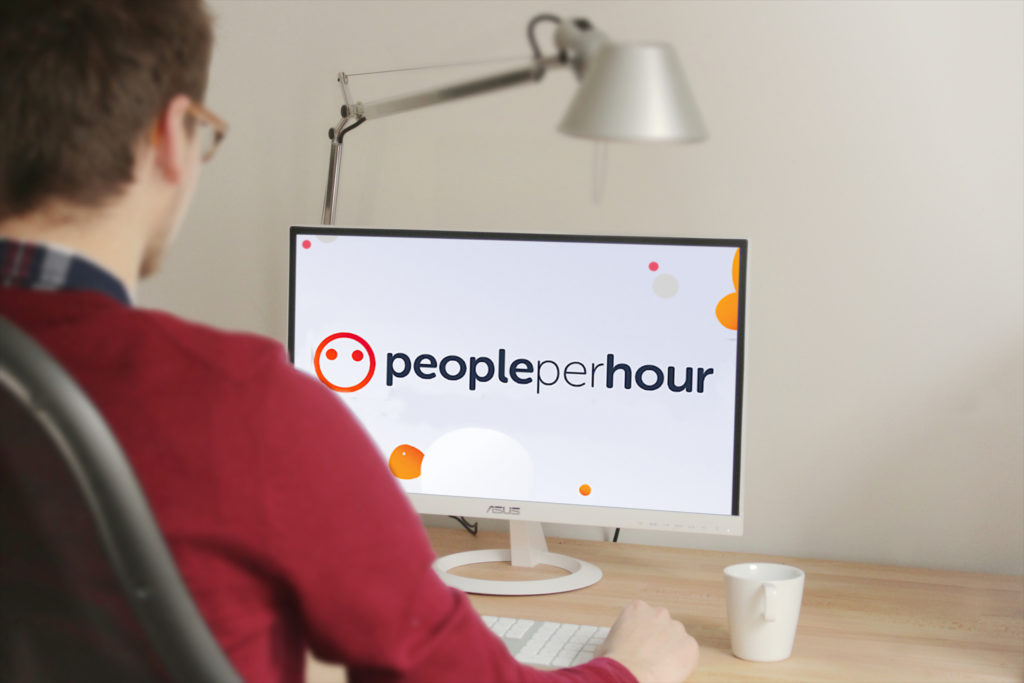 people per hour freelance job searcher using computer