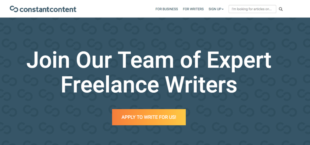 Remote Writing Jobs on Constant Content