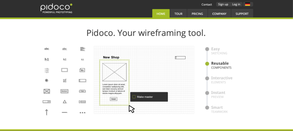 best wireframe tools - pidoco