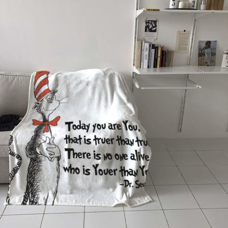 Dr. Seuss Inspired Soft Flannel Blanket