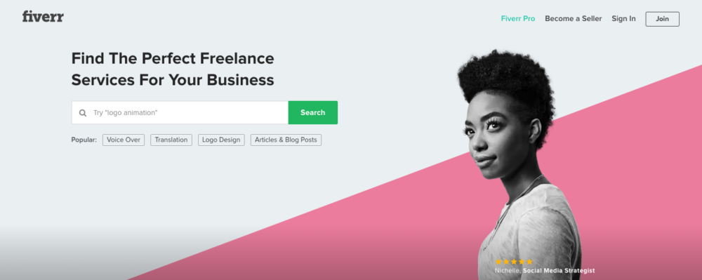 Fiverr for getting started as a beginning freelance writer