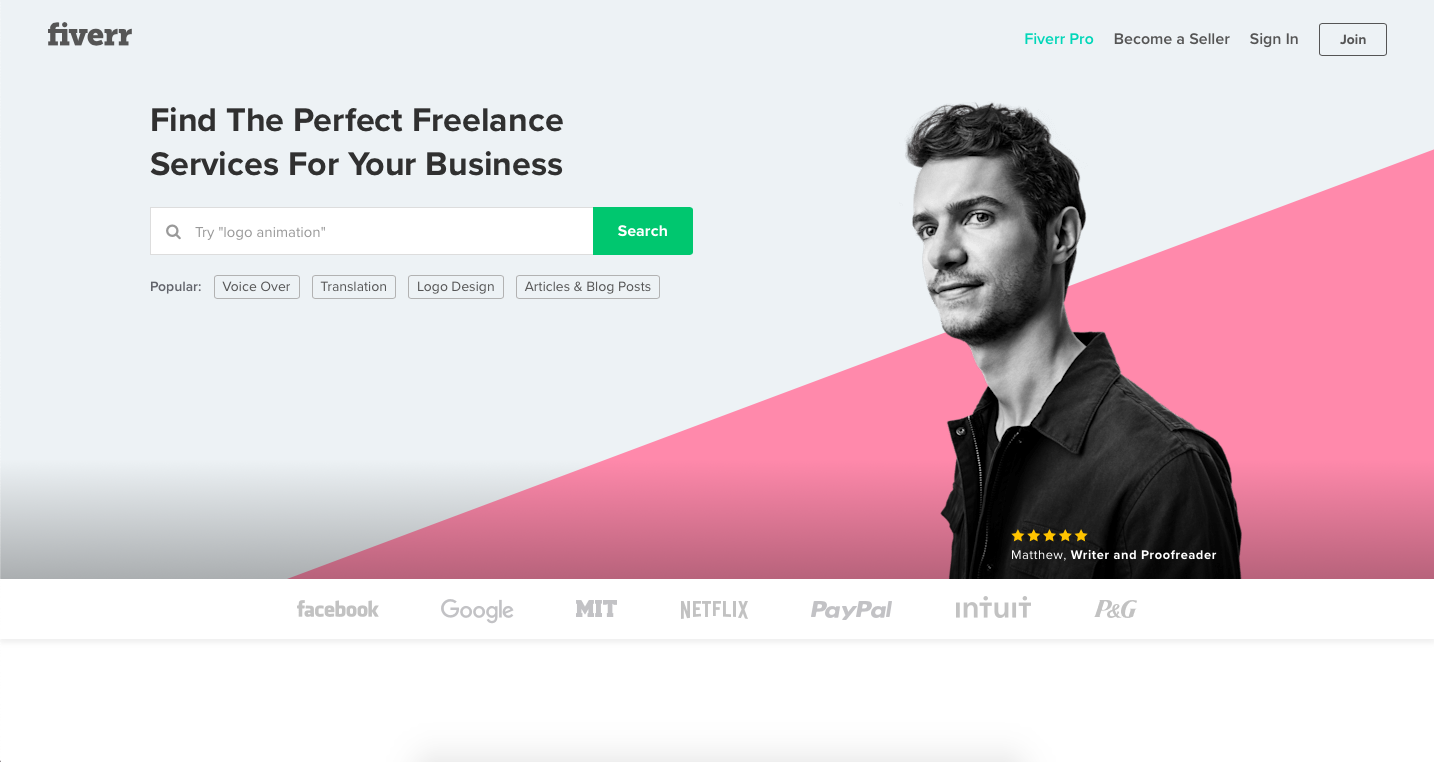 Fiverr is a platform for finidng freelance graphic design jobs