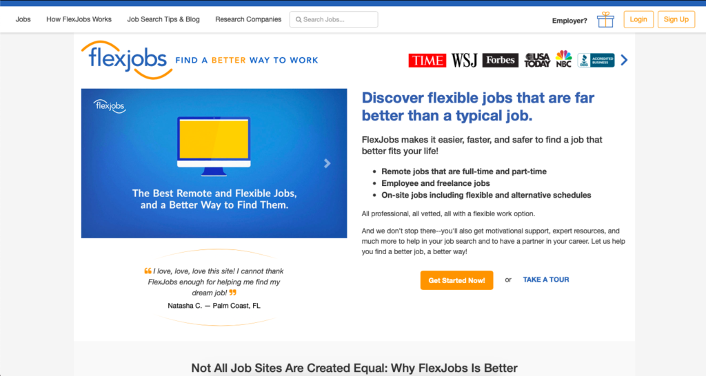 Get beginner freelance writing jobs on FlexJobs