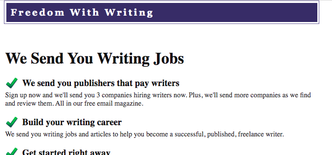 freelance writing jobs for beginners on freedom with writing