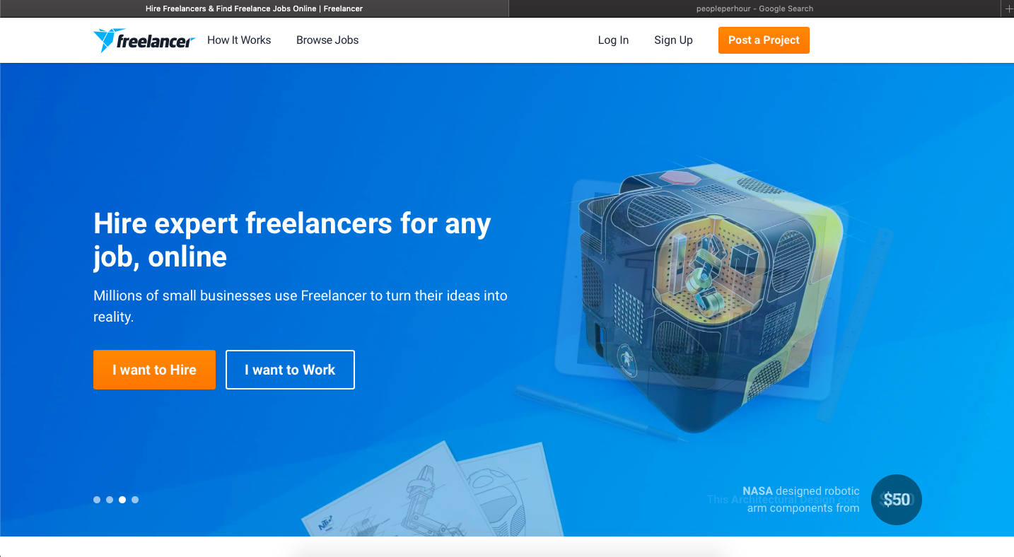 Freelancer.com is a platform for finidng freelance graphic design jobs