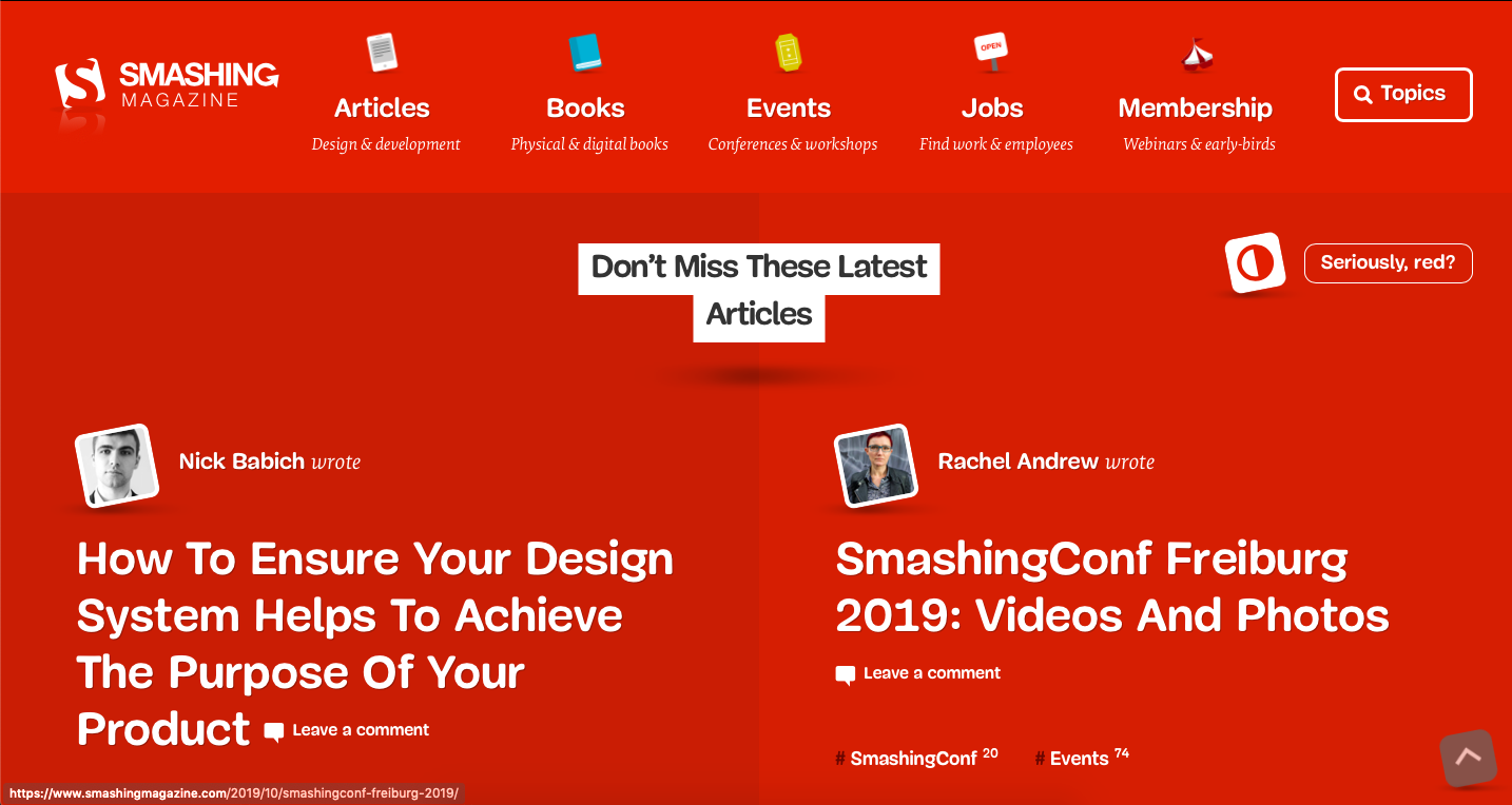 Smashing Magazine is a platform for finidng freelance graphic design jobs