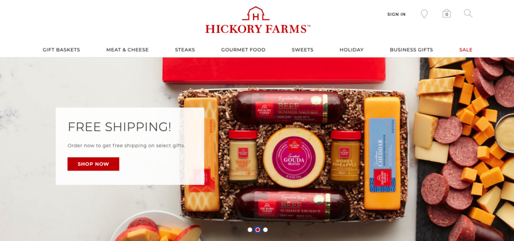 client gifts from hickory farms