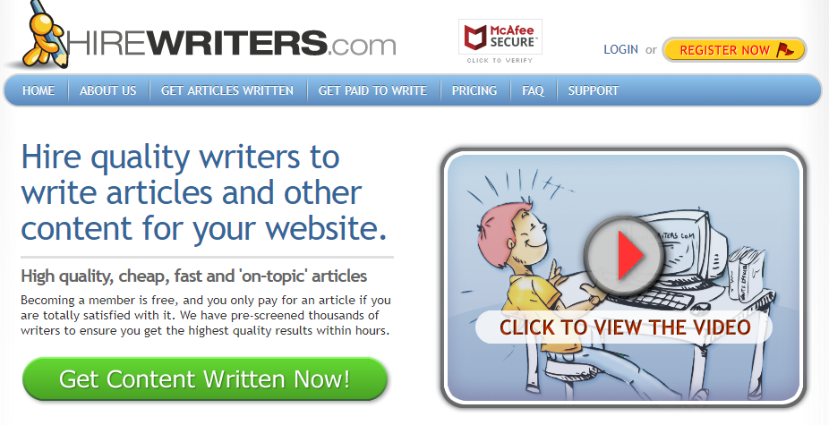 ghostwriting jobs sites - hirewriters