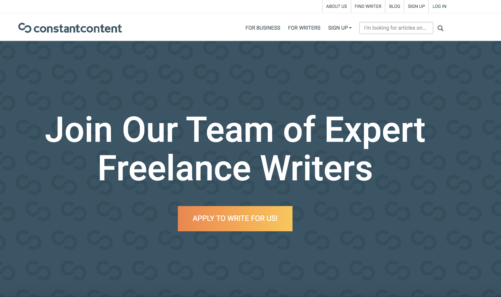 writing jobs sites - constant content