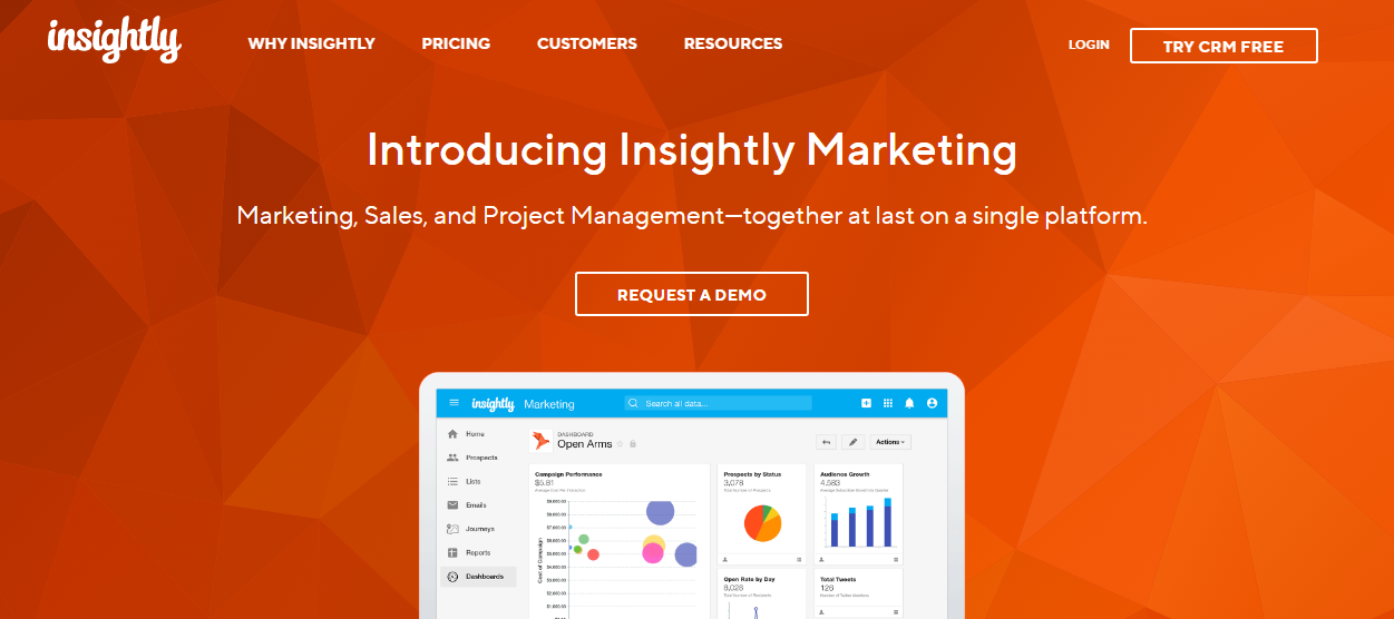 client management software - insightly