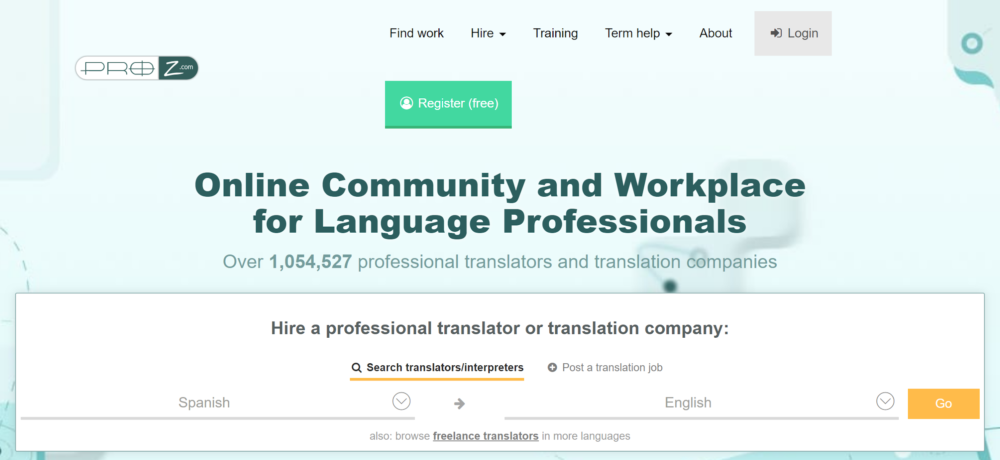 freelance translation jobs - pro z