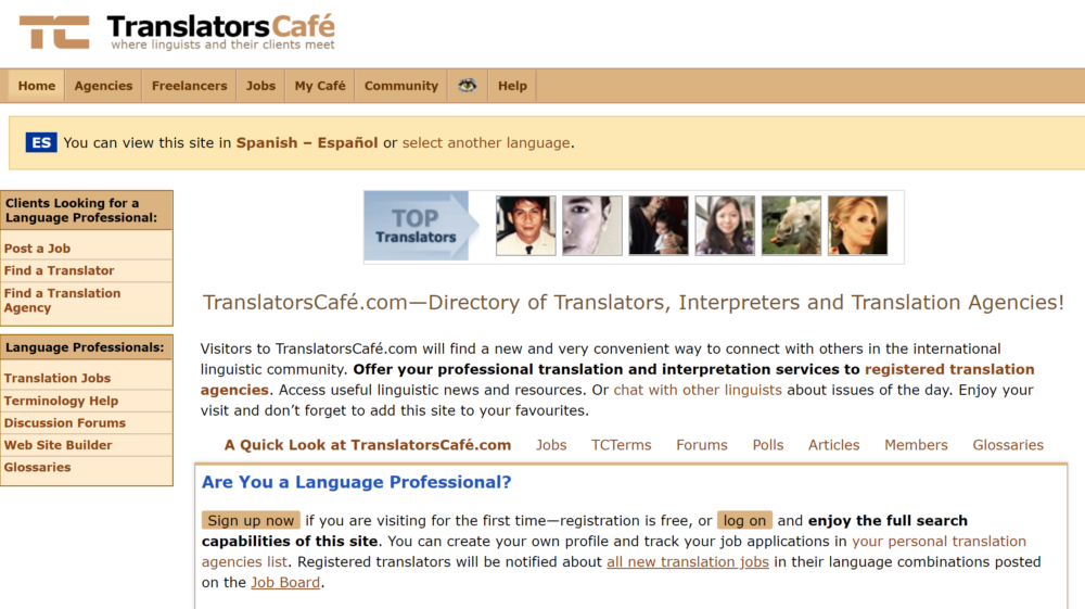 freelance translation jobs - translators cafe