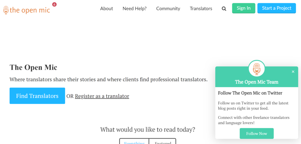 freelance translation jobs - the open mic