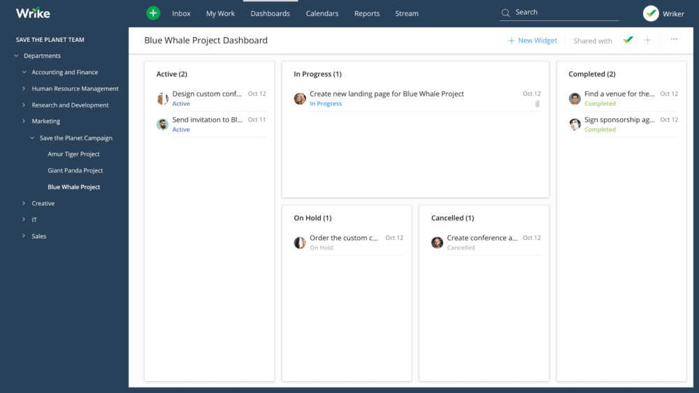project management software - Wrike