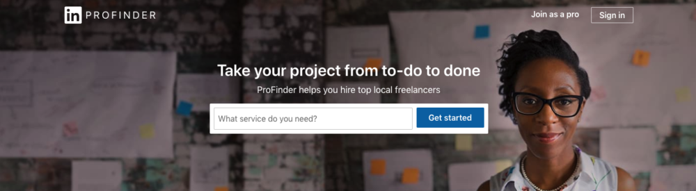 freelancing bookkeeping job sites - linkedin pro finder