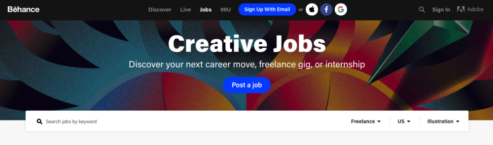 freelance illustration jobs - behance