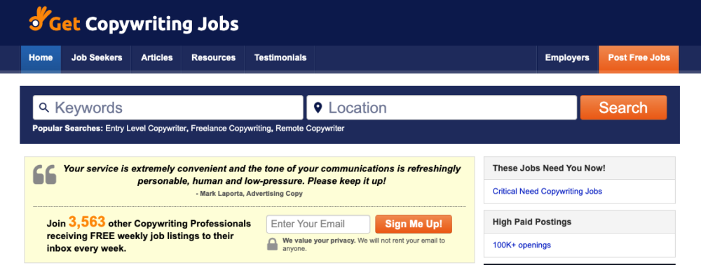copywriting jobs - get copywriting jobs