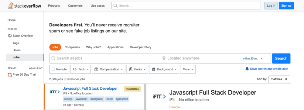 freelance web developer jobs - stack overflow jobs