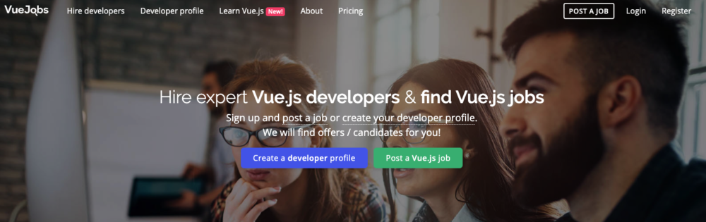 freelance web developer jobs - vue jobs